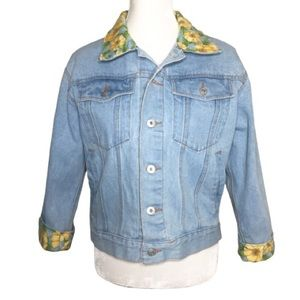 Vintage Caesars Collection Floral Denim Jacket